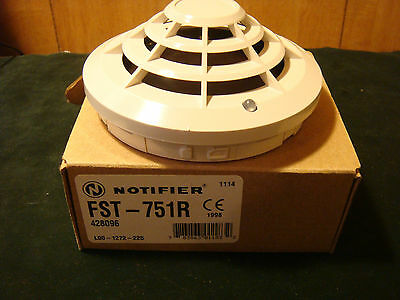 Notifier model FST-751R New In Box Rate of Rise Temperature sensor with fixed Te