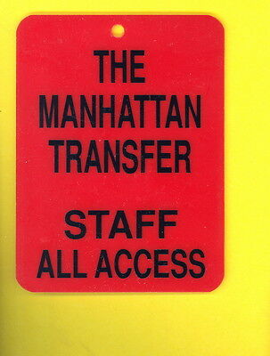 Manhattan Transfer 1984 heavy backstage pass CREW all access