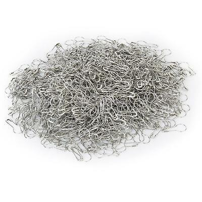 1000x silver tone metal coilless safety pin Bulb Gourd CALABASH shape swing tag