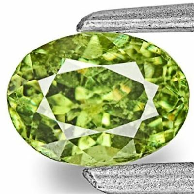 0.75-Carat Vivid Neon Green Eye-Clean Demantoid Garnet
