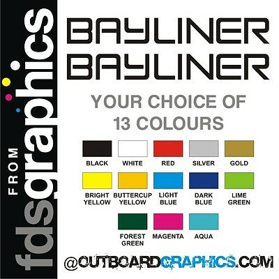 Pair of 710mm (28 inch) Bayliner stickers/decals