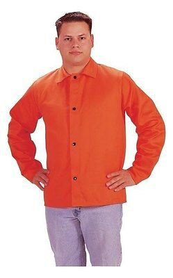 "Tillman 6230D XL 30"" 9 oz. Hi-Vis Orange FR Cotton Welding Jacket Coat Shirt"