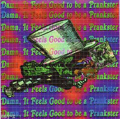 FEELS GOOD to be a PRANKSTER - BLOTTER ART - psychedelic perforated LSD hofmann