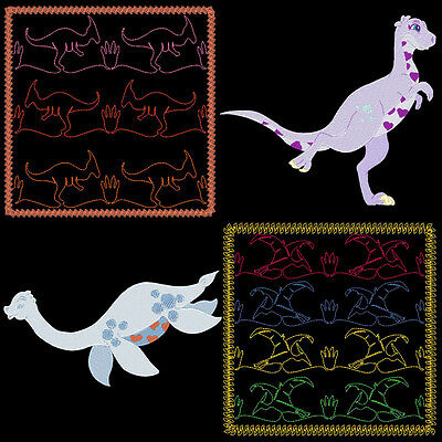 Dino Quilting Backgrounds & Dino Designs - 70 Machine Embroidery Designs (Azeb)