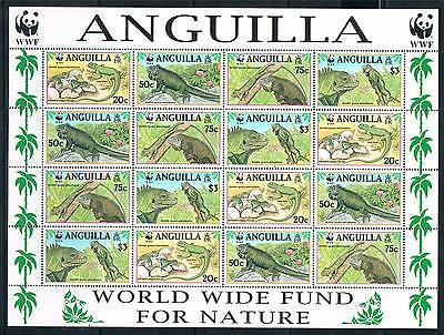 Anguilla 1997 Endangered Species sheet SG 1004/7 MNH