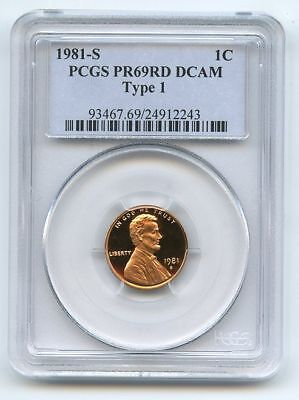 1981 S 1C Lincoln Cent Proof PCGS PR69DCAM