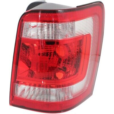 Halogen Tail Light For 2008-2012 Ford Escape Right Clear & Red Lens