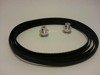 3x GT2 Pulleys 20 tooth and 2meters Timing belt 3D Printing REPRAP Shapeoko v2