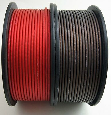12 GAUGE AWG WIRE CABLE 50 FT 25 BLACK 25 RED POWER GROUND STRANDED PRIMARY