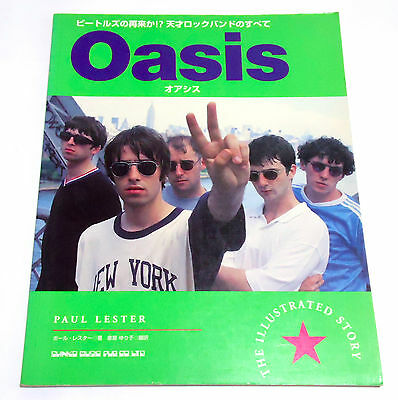 OASIS The Illustrated Story JAPAN PHOTO BOOK 1996 Noel Liam Gallagher Beady Eye