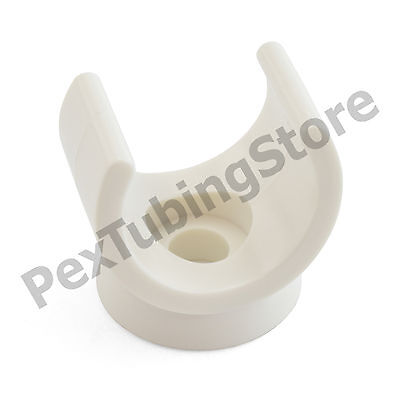 "(130) Snap-in Plastic Clips for 1/2"" PEX Tubing, Copper, CPVC Pipe"