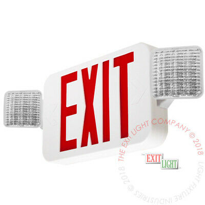 Red ALL LED Exit Sign & Emergency Light Standard Combo UL COMBOR2
