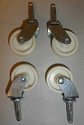 """Wheel swivel furniture casters set of four 1.5"""""""