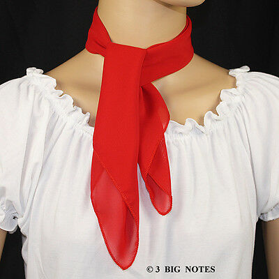 RED 50s Style Square Scarf for Poodle Skirt/ Sock Hop