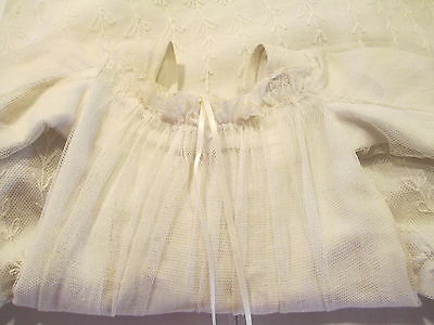 Antique Victorian Christening Gown Lace and Cotton