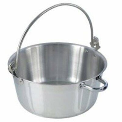 New 30cm Polished Aluminium Preserving Maslin Jam Marmalade Making Pan Pot