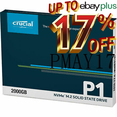 Crucial P1 500GB 1900MB/s 3D NAND NVMe M.2 SSD Solid State Drives