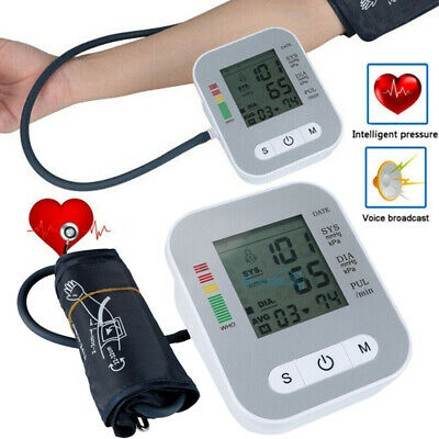 Automatic Digital Upper Arm Blood Pressure Cuff Monitor Pulse Rate BP Machine US
