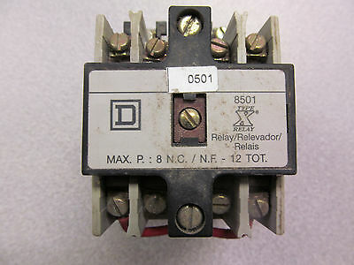 Square D 8501 X020 Series A Control Relay 120 V