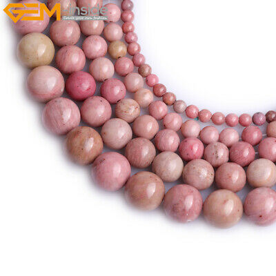 "Natural Rhodochrosite Stone Beads For Jewelry Making 15"" Wholesale Jewelry Beads"