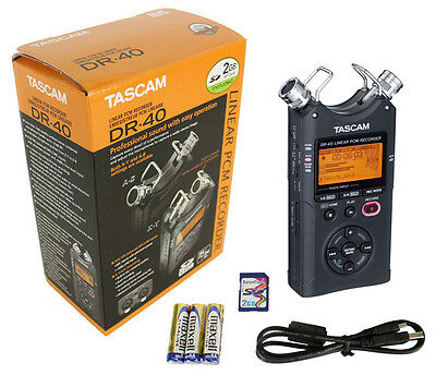 TASCAM DR-40 4 Track Linear PCM Handheld Portable Audio Recorder w/ 2GB SD Card