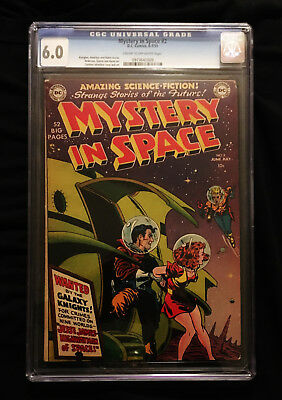 1951 DC Mystery In Space #2 CGC 6.0  Cream to Off-White Pages