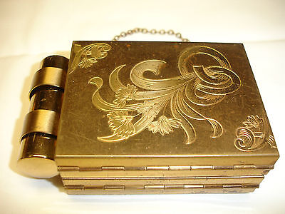 Vintage Zell Fifth Avenue Vanity Carryall Compact Coin & Lipstick Holder