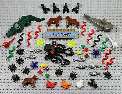 Lego X10 New White Clam Oyster Seafood Sea Animal Creatures Lot Shell