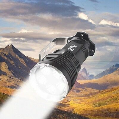 9000LM High Power Light 5x Cree T6 Flashlight Torch + Rechargeable 18650 Battery