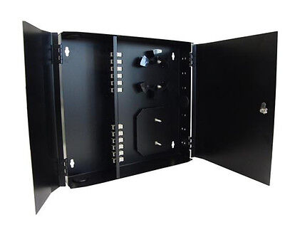 CRS Wall Mount Patch Panel 24 Port SCUPC Fiber Optic Patch Panel Black