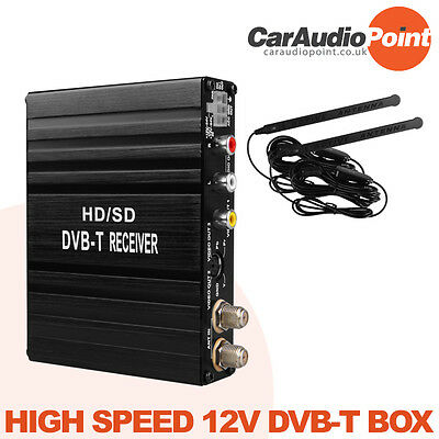 Xtrons In Car Hd Dual Twin Antenna Freeview Dvb-T Box Mpeg-4 Digital Tv Tuner