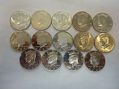 Lot Of 14 Kennedy Half Dollar Coins (Great)