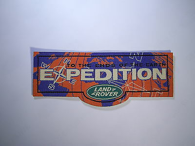 """LAND ROVER EXPEDITION CLOTH BADGE """"To The Ends of The Earth"""""""