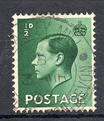 GB = Town/Village cancel - E8, `?ARLEY MILL` (1937) Double Ring with Side Studs