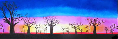 large  PRINT modern boab tree sunrise abstract  ART canvas PAINTING 900mm