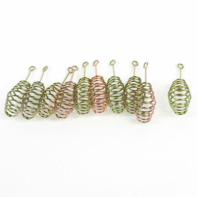 10 Pcs Bronze Tone Replacement Metal Feeder Coil Spring for Fishing