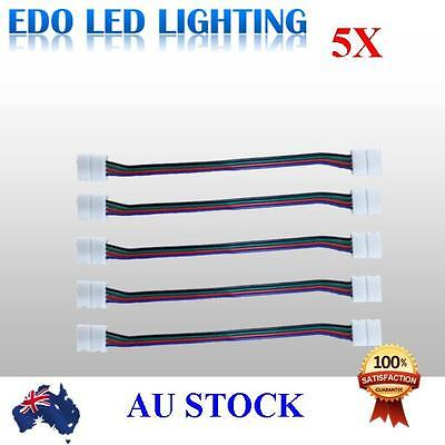 5pcs LED Strips 10mm PCB board with wire double end Connector for RGB LED Strip