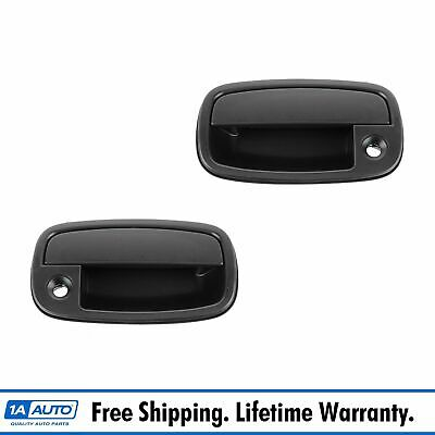 Outside Outer Door Handle Smooth Black Front Pair Set for 95-02 Kia Sportage NEW