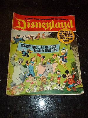 DISNEYLAND Comic - No 1 - Date 1971 - UK Paper comic