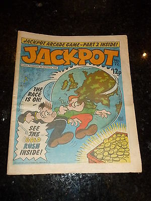 JACKPOT Comic - No 72 - Date 04/10/1980 - UK PAPER COMIC