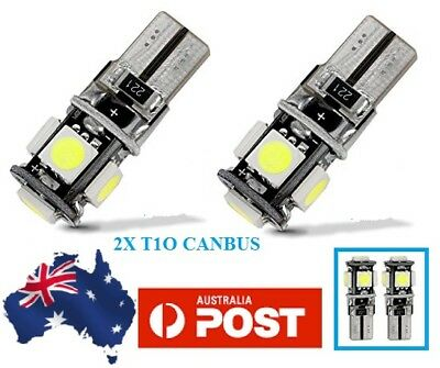 2 PCS T10 LED  White Canbus Error Free Number Plate Light Bulbs