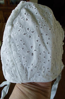 Vintage Baby Or Doll  White Bonnet