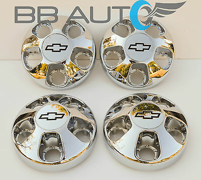 1996-2002 CHEVROLET ASTRO VAN CHROME WHEEL HUB CENTER CAPS SET NEW