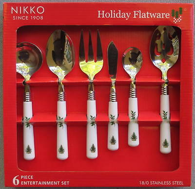 Nikko Christmastime or Happy Holidays Flatware Serving Pieces Set NEW in BOX