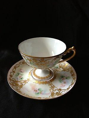 Magnificent European Old Paris ? French Footed Cup & Saucer