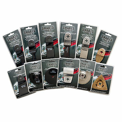 12Pc Multi-Tool Blade Pack To Suit Bosch, Fein, Ozito, Ryobi, Aldi Taurus & More