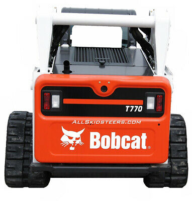 Bobcat Back Door White Decal Sticker Skid Steer S220 S250 S300 S330 A220 A300