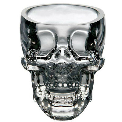 New Crystal Skull Head Vodka Whiskey Shot Glass Cup Drinking Ware Home Bar