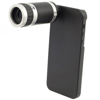 8x Optical Zoom Telescope Monocular Camera Lens with Case for iPhone 5