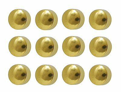 Ear Piercing Ball Earrings Studs 4mm Gold Plated Surgical Steel 12 Pair
